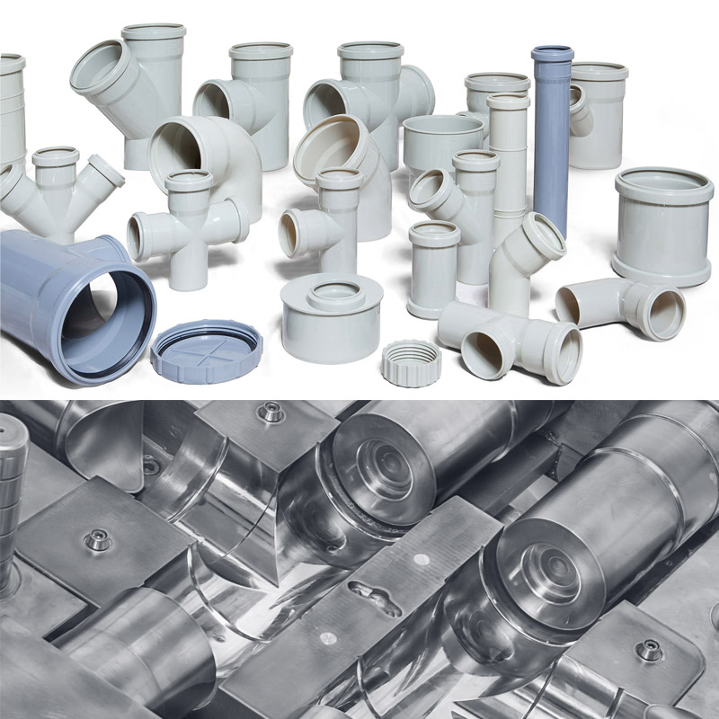 Outdoors PVC Pipe Fittings Plastic Injection Mould